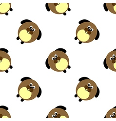 Seamless pattern with animals with cute dogs vector