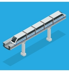 Monorail train sky train isometric vector