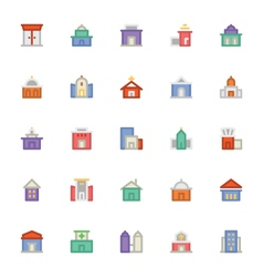 Building and furniture icons 1 vector