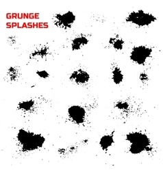 Grunge splashes set vector