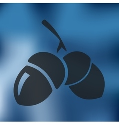 Acorns icon on blurred background vector