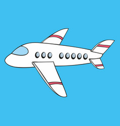 Aircraft stylized in the style of the cartoon vector