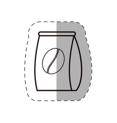 Bag coffee bean fresh line vector