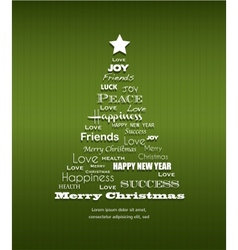 Christmas background with Christmas tree full of vector image vector image