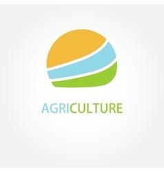 Circle agricultural logo vector
