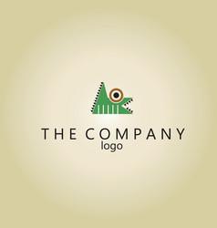 Crocodile logo ideas design vector