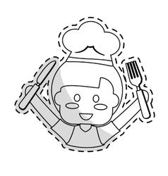 Cute kid icon vector