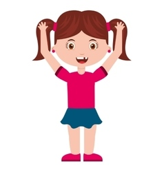 cute little girl isolated icon vector image