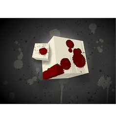 Dark scary cube vector image vector image