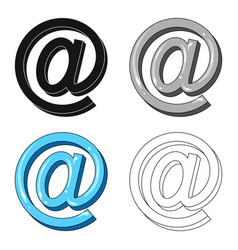 Email symbolmail and postman single icon in vector