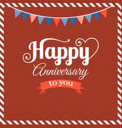 happy anniversary flat design vector image vector image