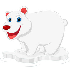 happy polar bear cartoon vector image