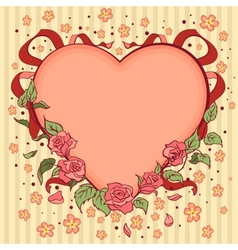 Heart Valentines day retro background vector image vector image
