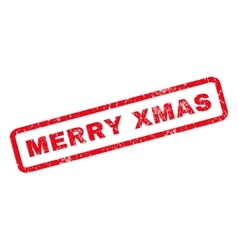 Merry Xmas Rubber Stamp vector image