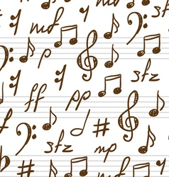 Musical patterns vector