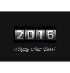 New Year counter 2016 vector image