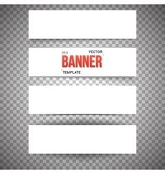 Paper Banner Set White Paper Banner Set vector image