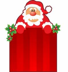 Santa and Christmas box vector image vector image