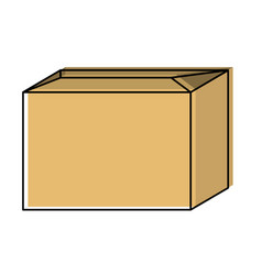 sealed cardboard box icon in watercolor silhouette vector image