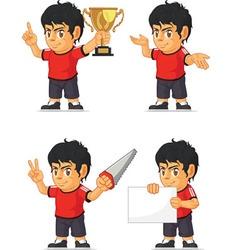 Soccer boy customizable mascot 4 vector
