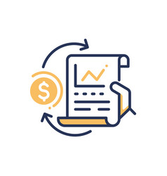 Stock exchange - modern line design icon vector