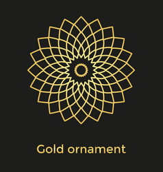the golden colored ornament mandala vector image vector image