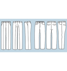 Trousers for men vector