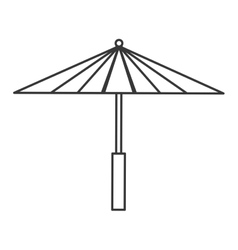 Umbrella icon japan culture graphic vector
