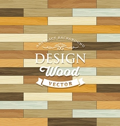 Vintage Tile wood floor striped concept vector image