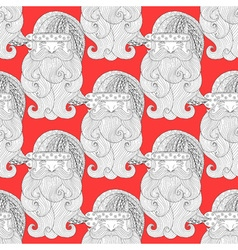 Fancy santa red seamless vector