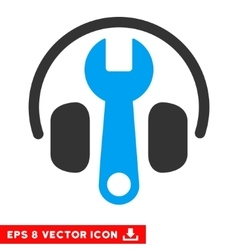 Headphones tuning wrench eps icon vector