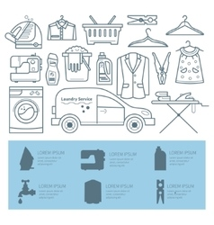 Laundry room vector