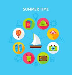 Concept summer time vector
