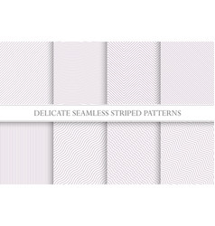 Delicate seamless striped patterns fabric vector