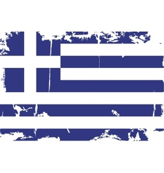 Greek grunge flag vector