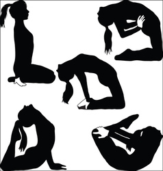 Yoga - a variety of exercises- vector