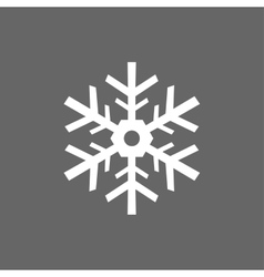 Icon christmas snowflakes for holiday season vector