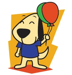 Dog and ballon vector