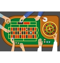 Game of roulette top view vector