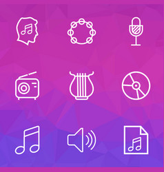 Audio outlines set collection of amplifier cover vector