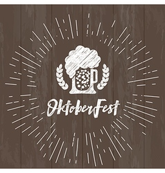 Beer festival celebration typography vector image