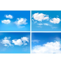Blue sky with clouds backgrounds vector