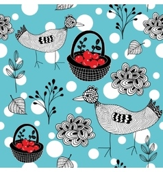 Cold winter seamless pattern with white snowballs vector