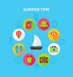 Concept summer time vector