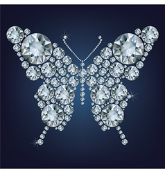 Diamond butterfly vector