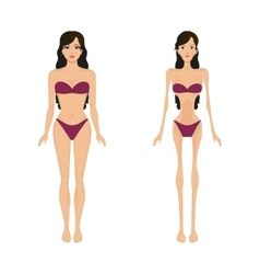 Female anorexia women bulimia vector