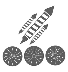 firework celebration explosion icon vector image