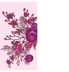 Floral card Bouquet vector image vector image