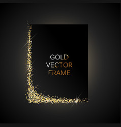 Gold glitter frame vector