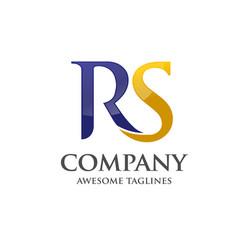 Letter r and s rssrletter s letter r logo vector